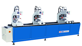WMC-312 uPVC windows and doors three-head welding machine